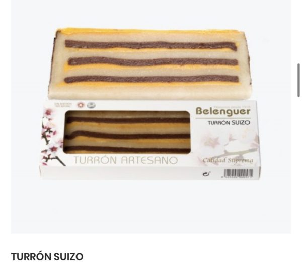 gourmet innovative spanish turron suizo
