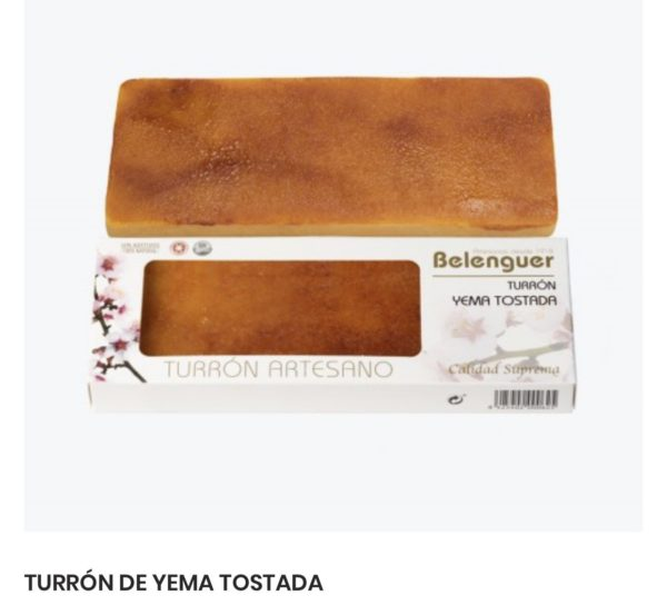 gourmet innovative spanish turron yema tostada
